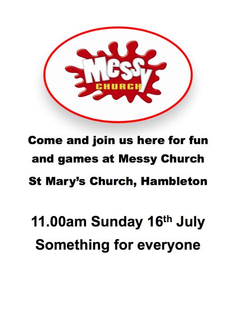 Messy Church 16 July 17