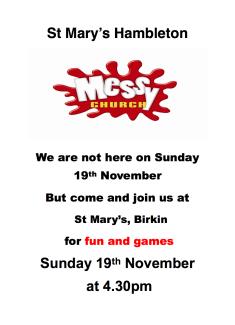 Messy Church Birkin - 19 Nov 17