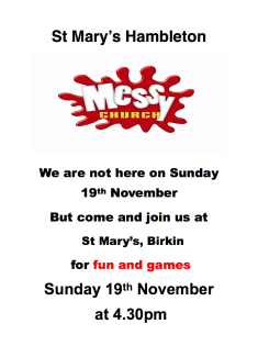 Messy Church Birkin - 19 Nov 17