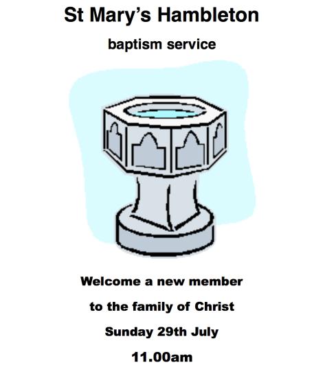 Baptism 29 July 18