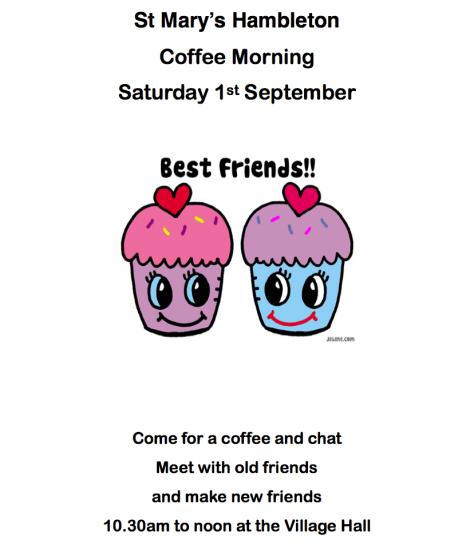 Coffee Morning 1 Sep 18