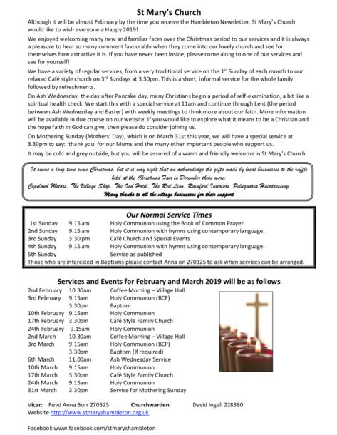 Newsletter FebMar19
