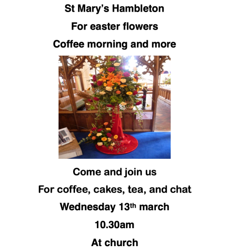 EasterCoffeeMorning13March19