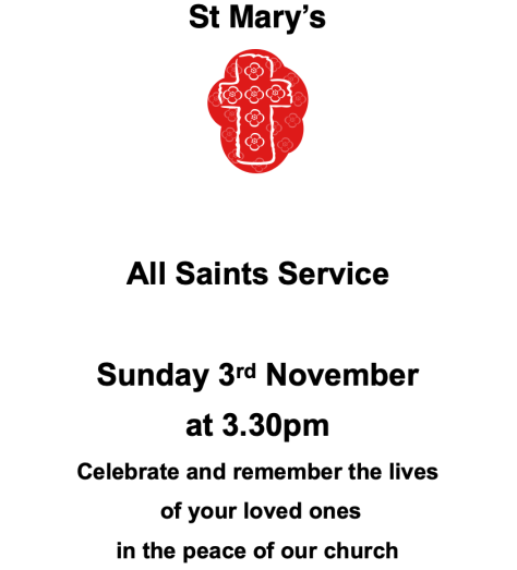 All Saints - 3Nov19