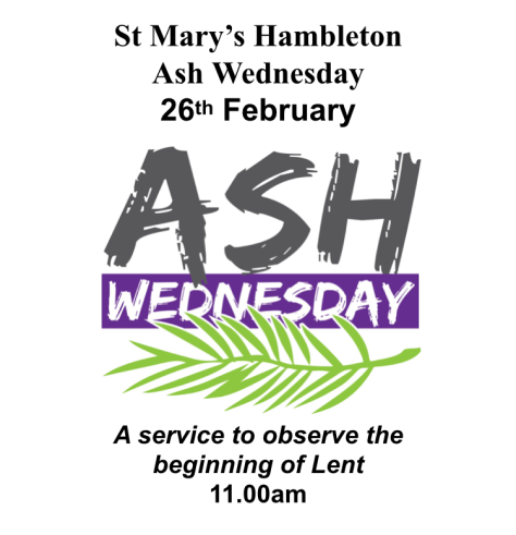 Ash Wed 26th Feb 2020