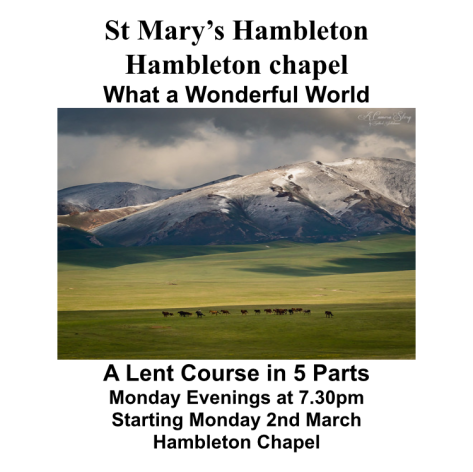 Lent Course 2nd Mar2020