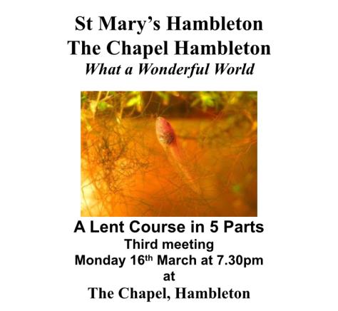 Lent 3 - 16 Mar2020
