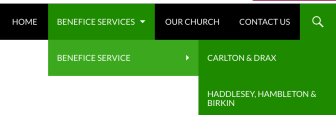 Benefice Services Menu