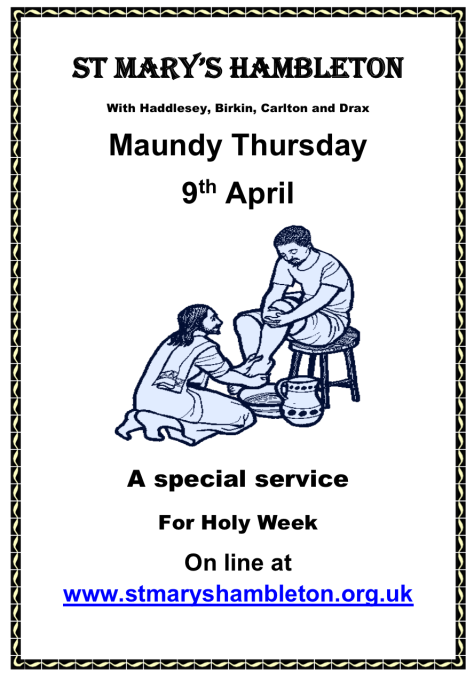 Maundy Thursday 9Apr2020