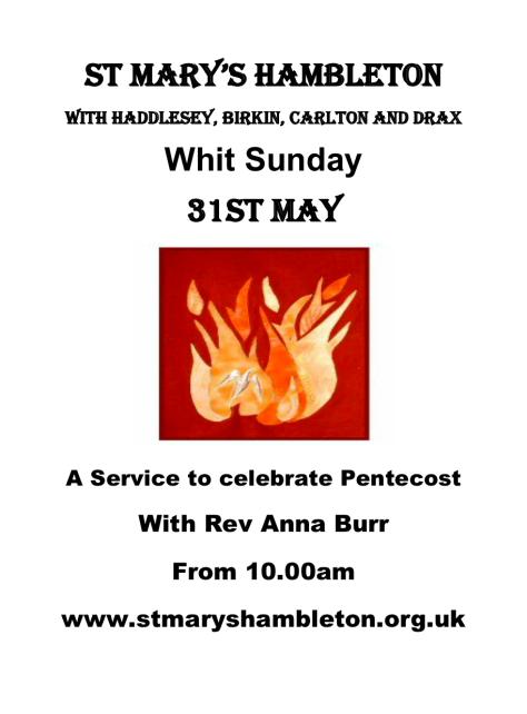 Pentecost-31st May 2020
