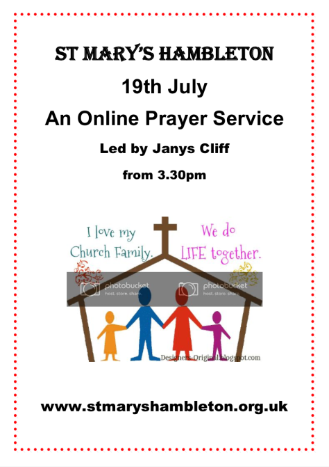 Service - 19th July 2020 - Online