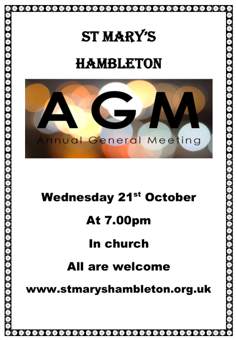 AGM - 21st October 2020