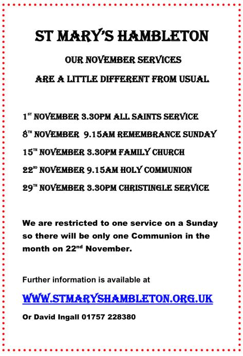 November 2020 - Services