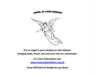 Advent - An Angel in your window