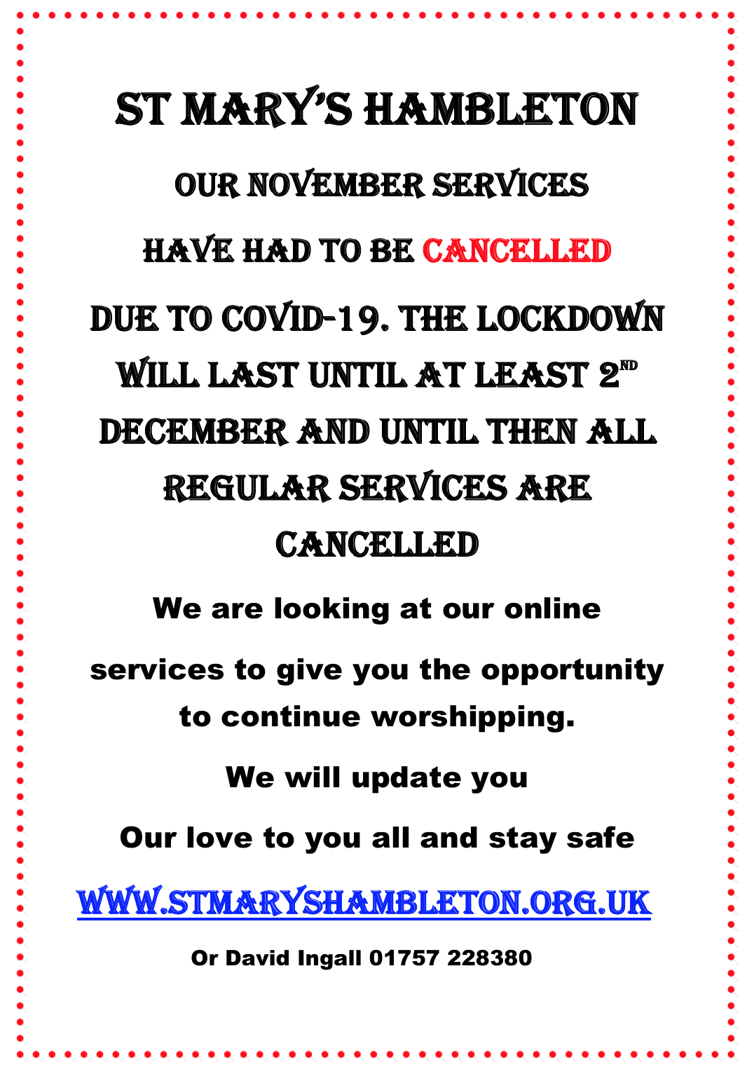 Lockdown Nov 2020