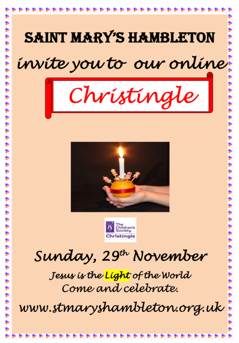 Notice Christingle 2020