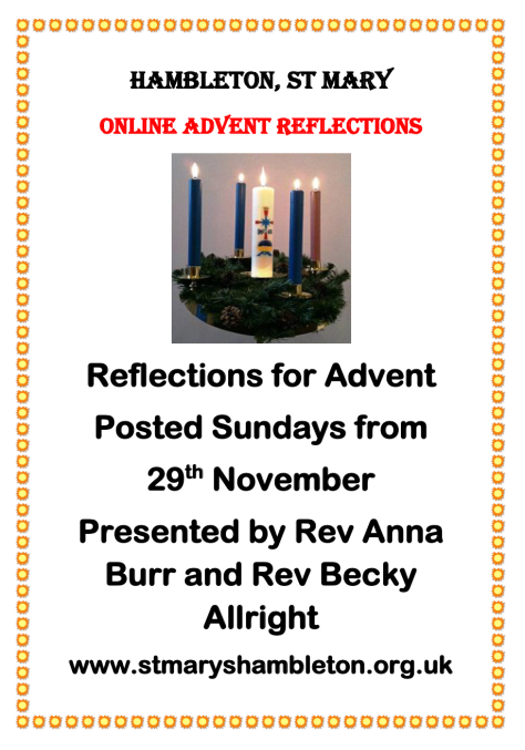 Reflections for Advent 2020