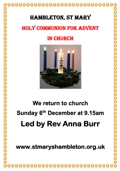 2nd - Advent Sunday 2020