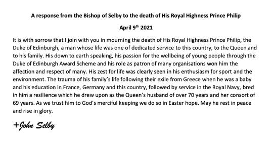 Bishop John - HRH